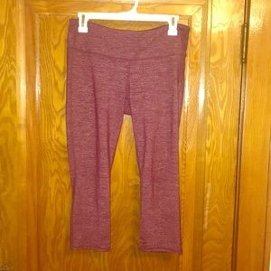 Maroon / white athleta leggings